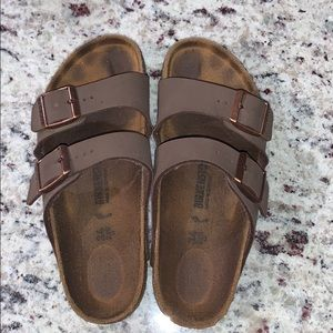 Brown Birkenstock's